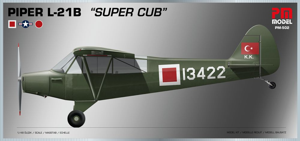 "PM Model 1/48 Piper L-21B ""Super Cub"" # 502"