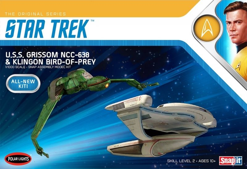 Polar Lights 1/1000 Star Trek U.S.S. Grissom NCC-638 & Klingon Bird of Prey (Snap Together) # 957