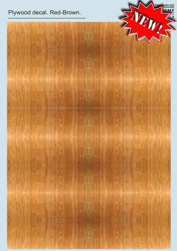 Print Scale Decals 1/72 & 1/48 Red-Brown - Plywood Decal Part 2 # 032
