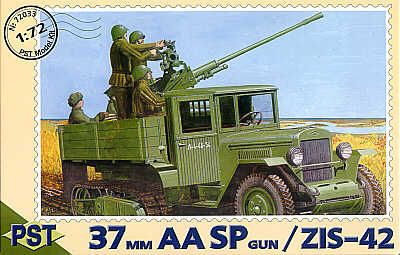 PST 1/72 37mm Self-propelled Anti-Aircraft Gun on ZIS-42 # 72033