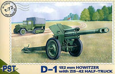 PST 1/72 D-1 152mm Howitzer with ZIS-42 Half-track # 72031