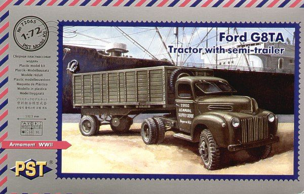 PST 1/72 Ford G8TA Tractor with Semi-Trailer # 72065