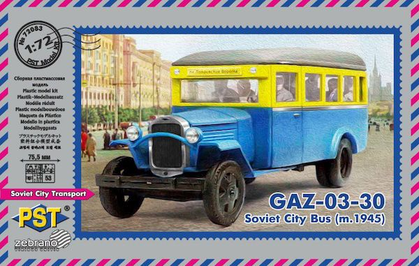 PST 1/72 GAZ-03-30 Soviet City Bus (m.1945) # 72083