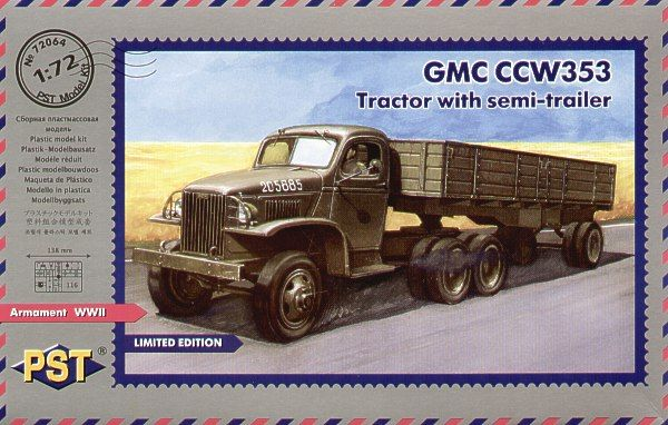 PST 1/72 GMC CCW-353 Tractor with Semi-Trailer # 72064