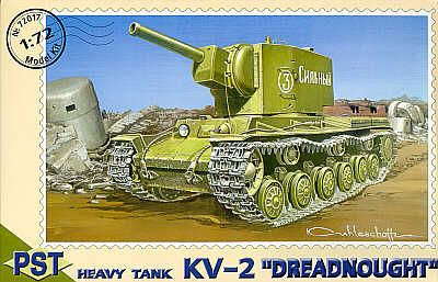 PST 1/72 KV-2 Dreadnought Heavy Tank # 72017