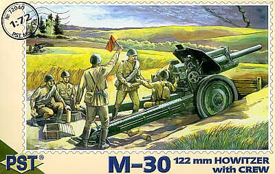 PST 1/72 M-30 122mm Howitzer with Crew # 72040