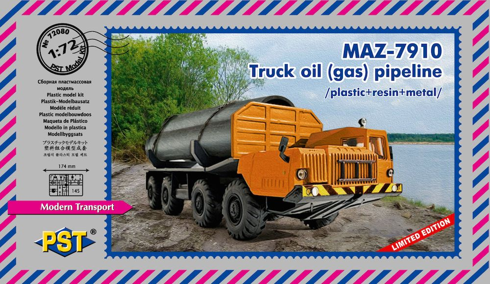 PST 1/72 MAZ-7910. Truck Oil (Gas) Pipelines # 72080