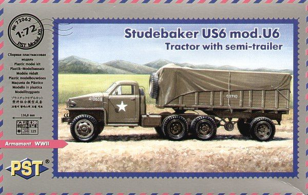 PST 1/72 Studebaker US6 Mod. U6 Tractor with Semi-Trailer # 72062