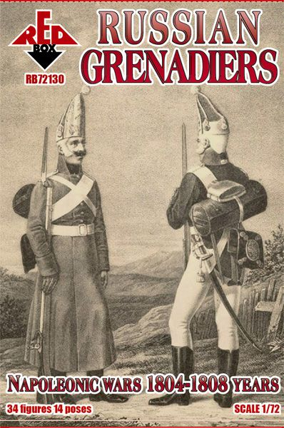 Red Box 1/72 Russian Grenadiers (Napoleonic Wars 1804-1808 Years) # 72130