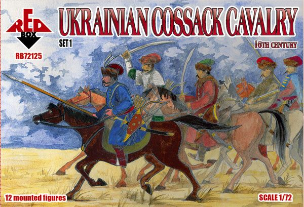 Red Box 1/72 Ukrainian Cossack Cavalry 16th Century Set 1 # 72125