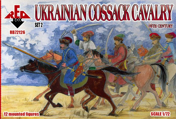 Red Box 1/72 Ukrainian Cossack Cavalry 16th Century Set 2 # 72126