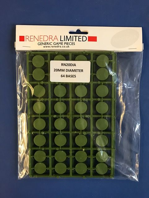 Renedra 20mm Diameter 64 Bases # RN20DIA