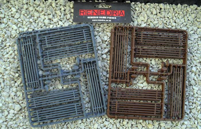 Renedra 28mm Worm Fences - Grey # RN12