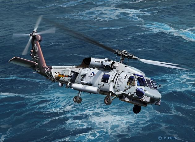 Revell 1/100 SH-60 Navy Helicopter # 04955