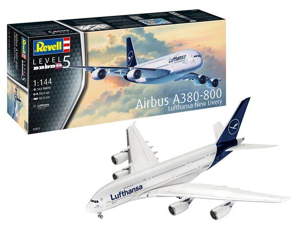 Revell 1/144 Airbus A380-800 Lufthansa New Livery # 03872