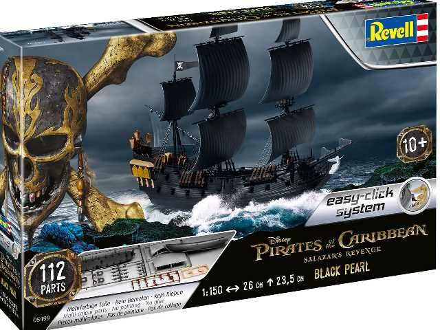Revell 1/150 Pirates of the Caribbean Salazar's Revenge Black Pearl Easy-Click System # 05499