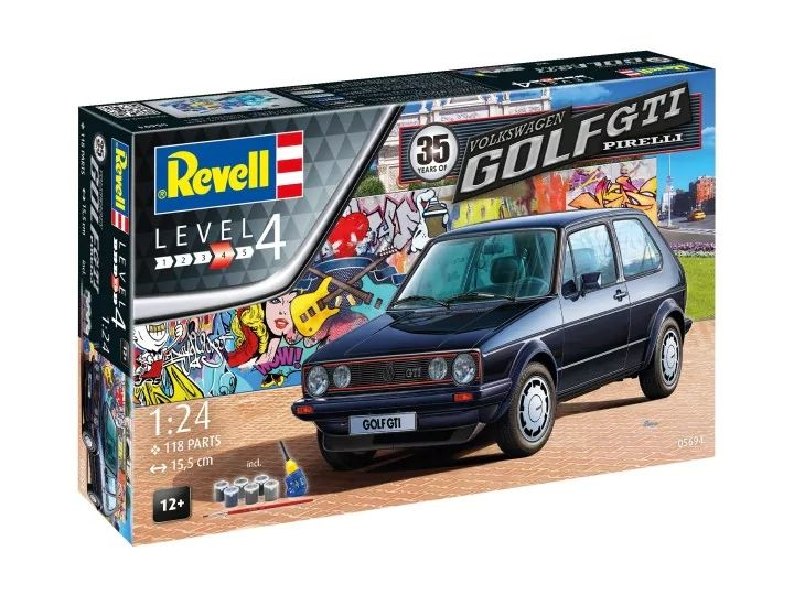 Revell 1/24 35 Years of the VW Golf GTi Pirelli Gift Set # 05694