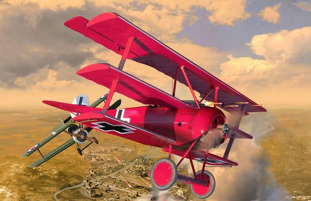 Revell 1/28 125 Years Roter Baron Fokker DR.I Gift Set # 05778