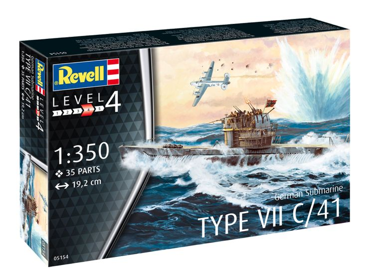 Revell 1/350 German Submarine Type VII C/41 # 05154