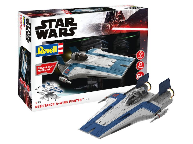 Revell 1/44 Star Wars Resistance A-Wing Fighter (Blue) Build & Play # 06773