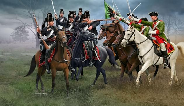 Revell 1/72 Austrian Dragoons & Prussian Hussars Seven Years' War # 02453