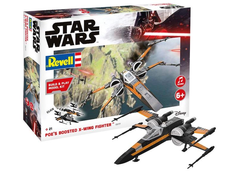 Revell 1/78 Star Wars Poe's Boosted X-Wing Fighter Build & Play # 06777