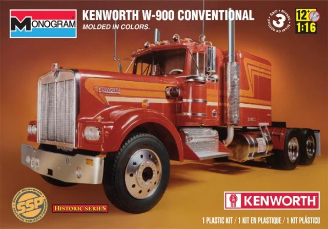 Revell Monogram 1/16 Kenworth W-900 Conventional Truck # 85-2501