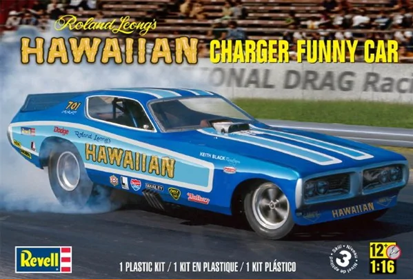 Revell Monogram 1/16 Roland Leong Hawaiian Charger Funny Car # 8