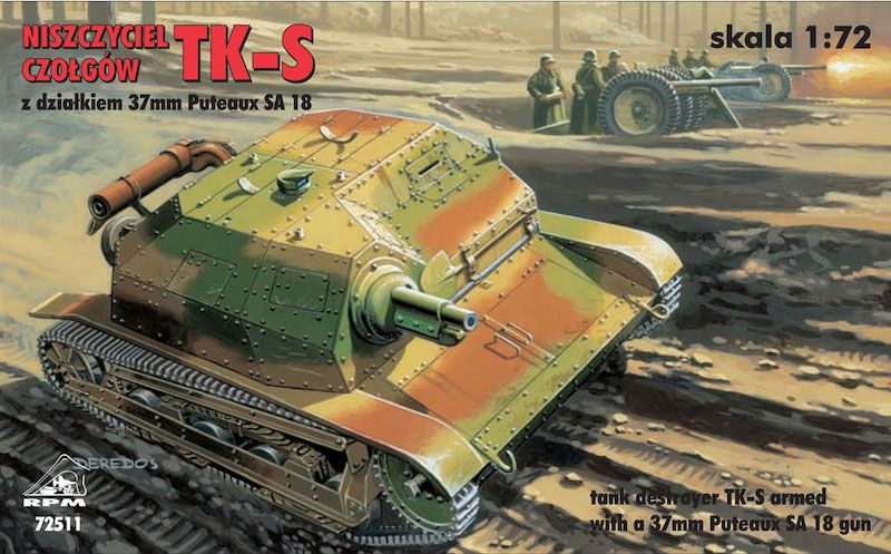 RPM 1/72 TK-S Tank Destroyer with 37mm Puteaux SA 18 Gun # 72511