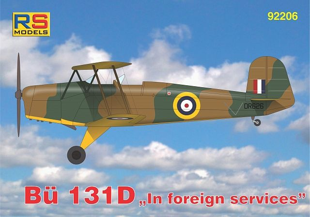 RS Models 1/72 Bucker Bu-131D In Foreign Service # 92206