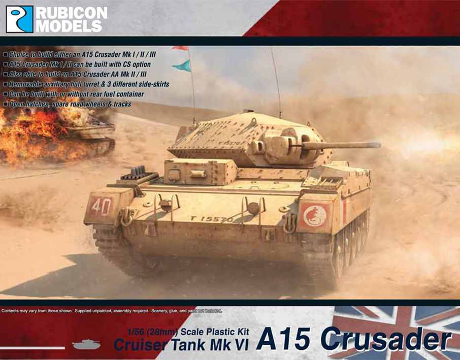 Rubicon Models 28mm A15 Crusader Mk.VI Cruiser Tank # 280025
