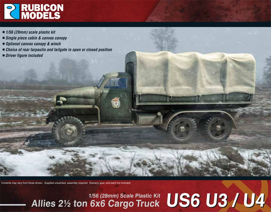 Rubicon Models 28mm Allies US6 U3/U4 2 1/2 ton 6x6 Cargo Truck # 280035