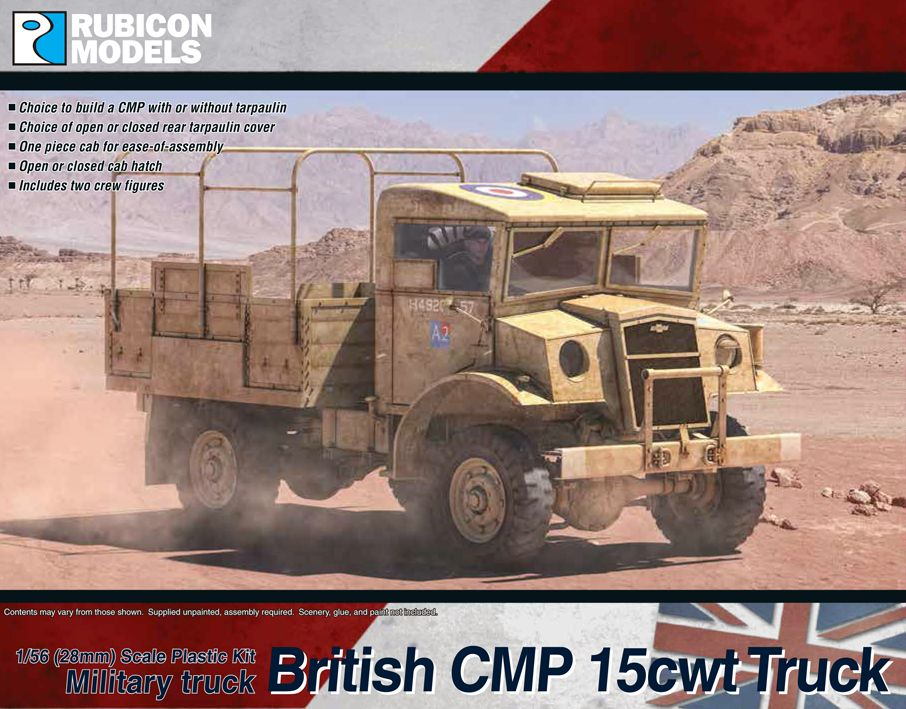 Rubicon Models 28mm British CMP 15cwt Military Truck # 280056