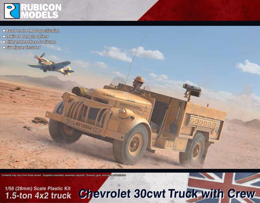 Rubicon Models 28mm Chevrolet 1.5 ton 30cwt 4x2 Truck with Crew # 280075