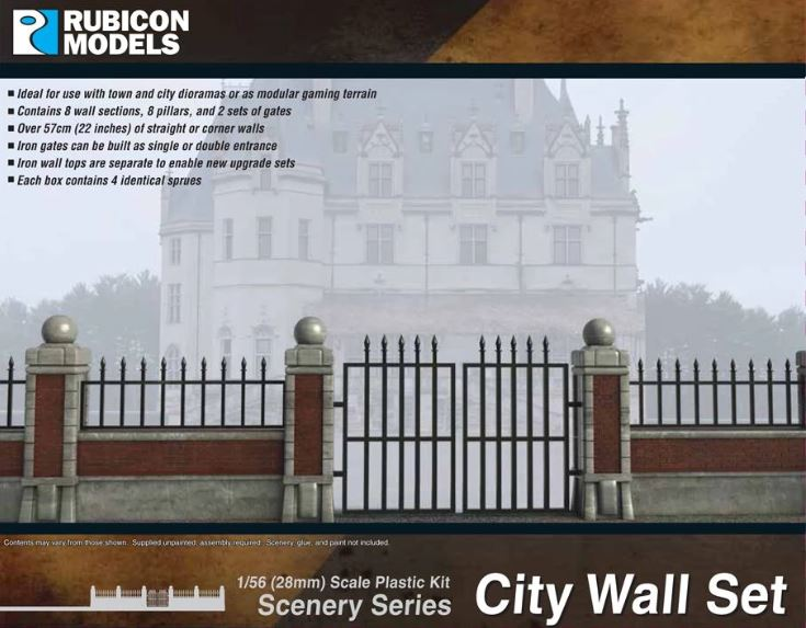 Rubicon Models 28mm City Wall Set # 283003
