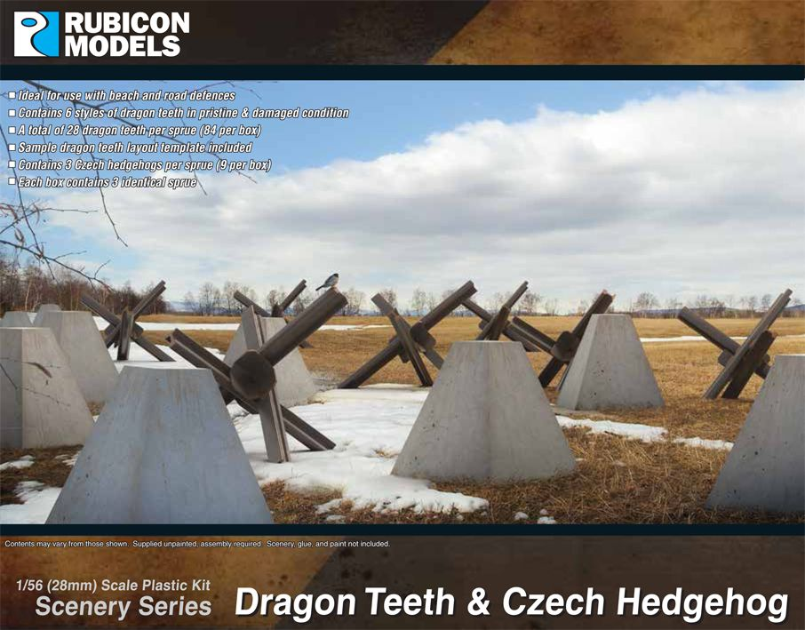 Rubicon Models 28mm Dragon Teeth & Czech Hedgehog # 283005