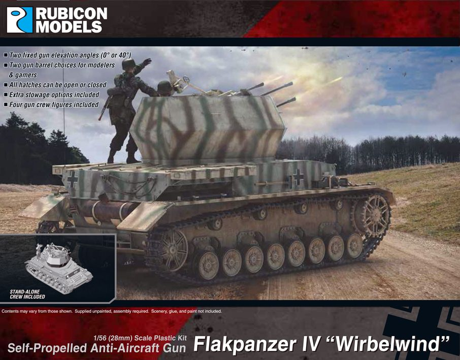 "Rubicon Models 28mm Flakpanzer IV ""Whirlwind"" Self-Propelled Anti-Aircraft Gun # 280079"