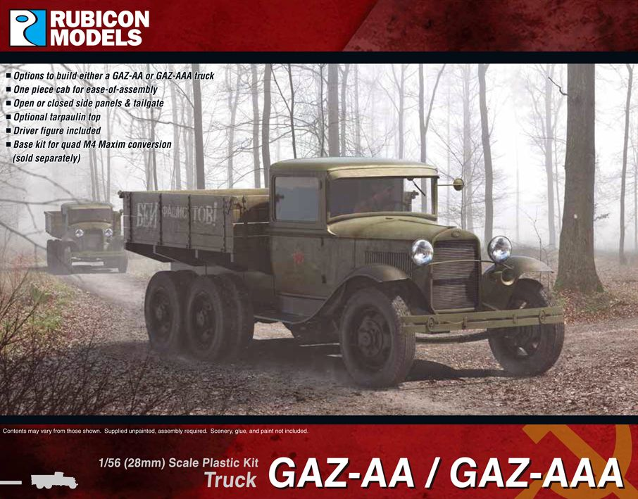 Rubicon Models 28mm GAZ-AA/AAA Truck # 280063