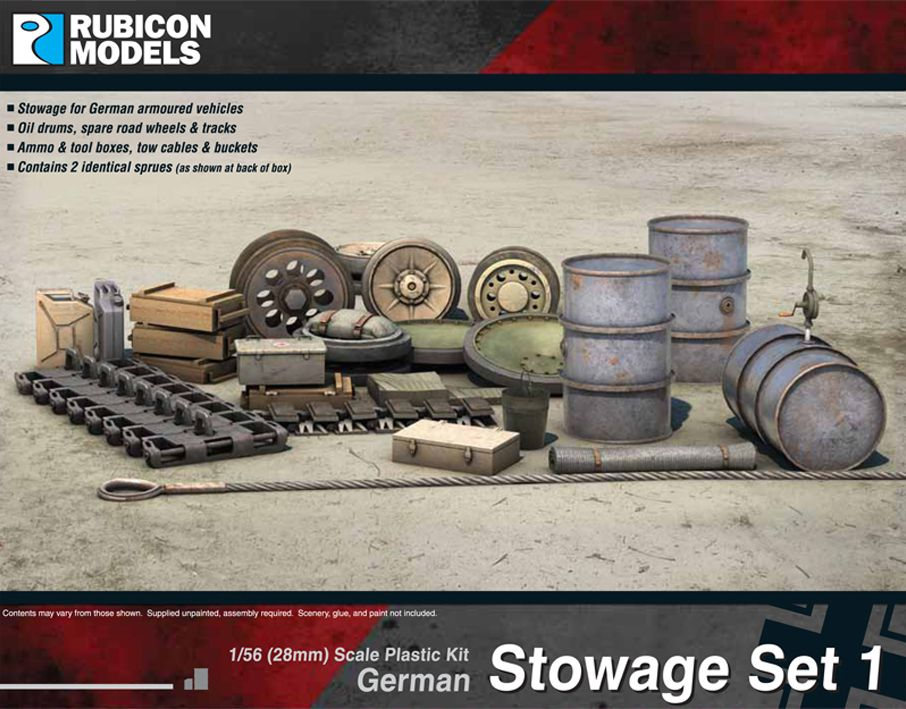 Rubicon Models 28mm German Stowage Set 1 # 280022