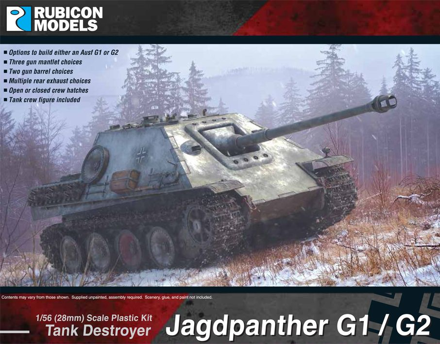 Rubicon Models 28mm Jagdpanther G1/G2 Tank Destroyer # 280064