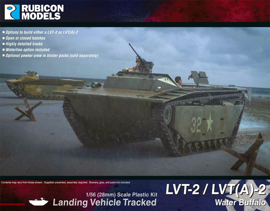 Rubicon Models 28mm LVT-2/(A)-2 Water Buffalo Tracked Landing Vehicle # 280067