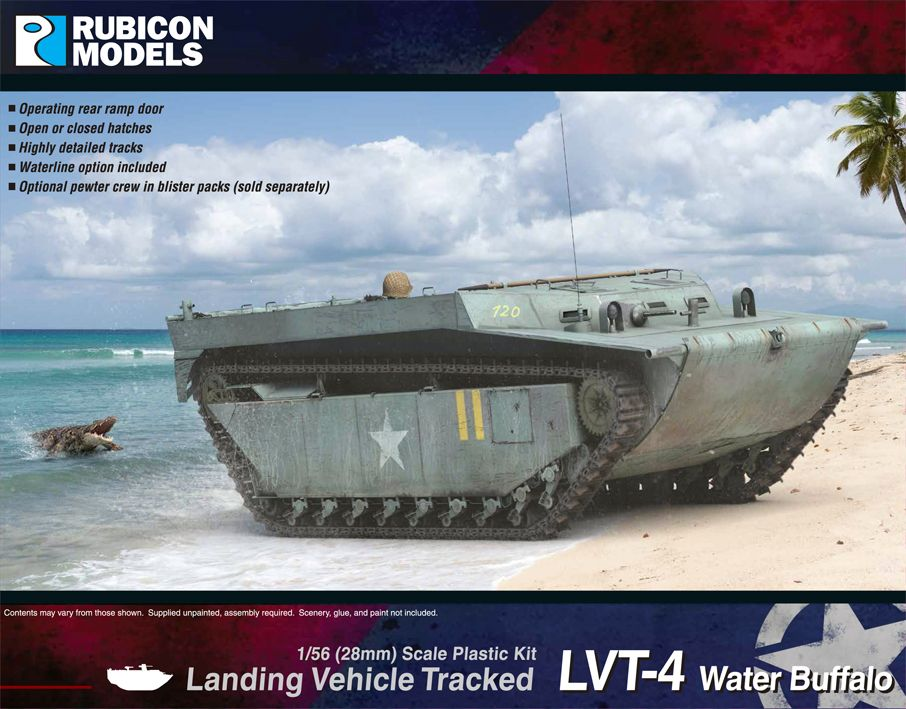 Rubicon Models 28mm LVT-4 Water Buffalo Tracked Landing Vehicle # 280068