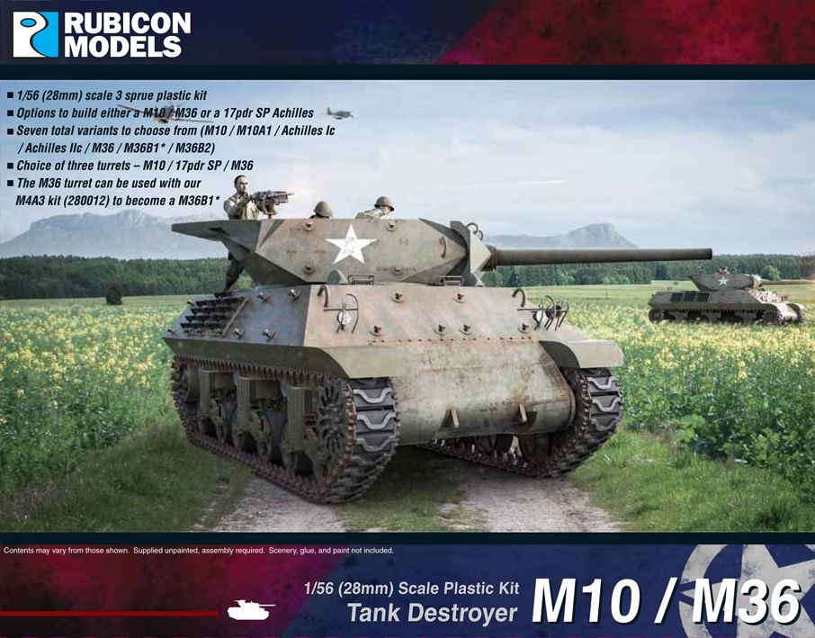 Rubicon Models 28mm M10/M36 Tank Destroyer # 280029