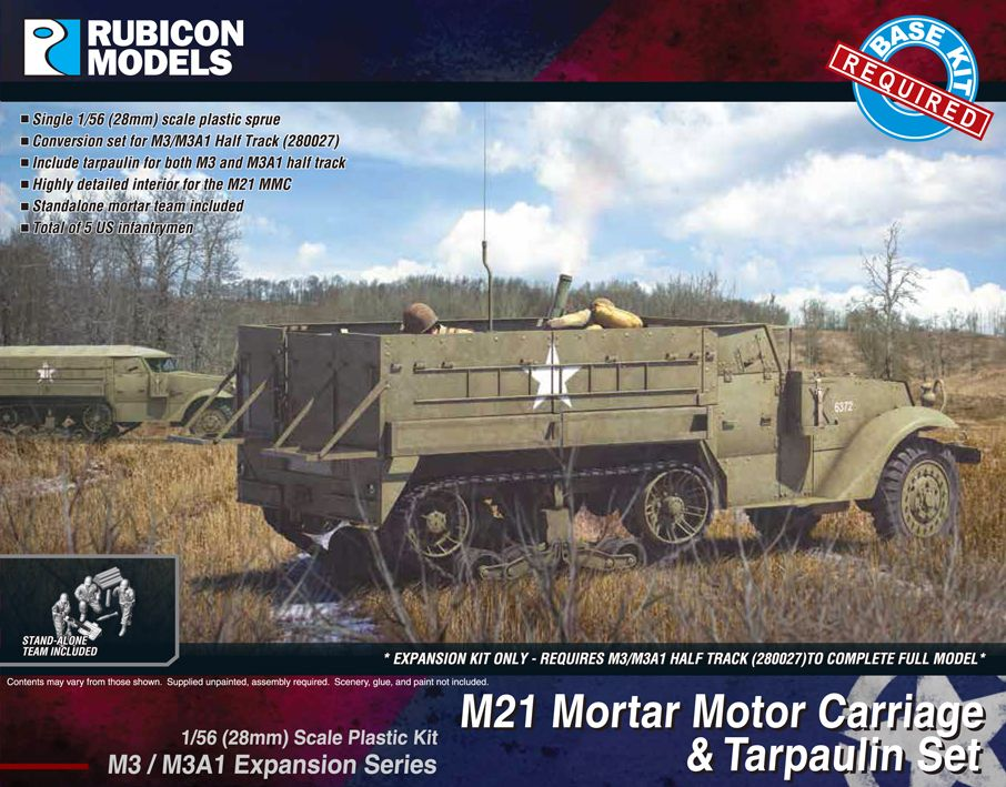 Rubicon Models 28mm M21 Mortar Motor Carriage & Tarpaulin Expansion Set # 280053