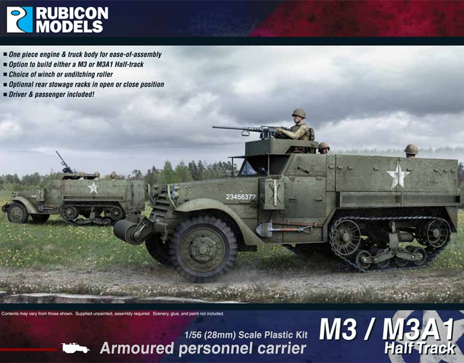 Rubicon Models 28mm M3/M3A1 Half-Track Armoured Personnel Carrier # 280027