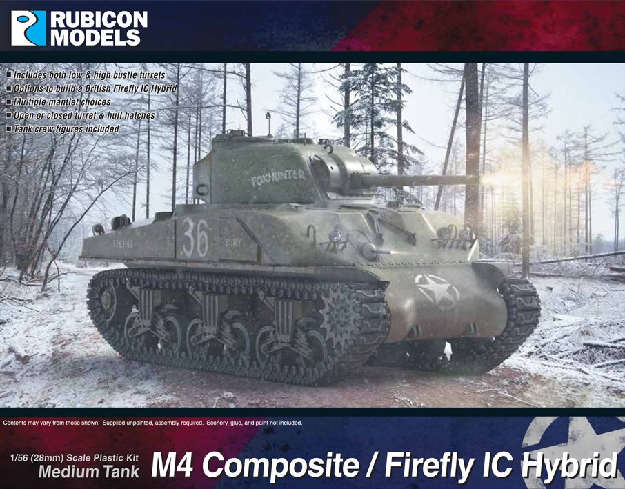 Rubicon Models 28mm M4 Composite / Firefly IC Hybrid Medium Tank # 280061