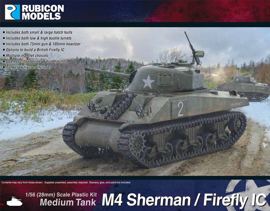 Rubicon Models 28mm M4 Sherman / Firefly IC Medium Tank # 280060
