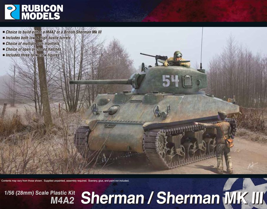 Rubicon Models 28mm M4A2 Sherman / Sherman Mk.III # 280055