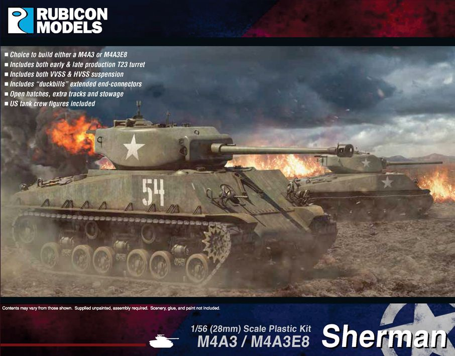 Rubicon Models 28mm M4A3/M4A3E8 Sherman # 280042