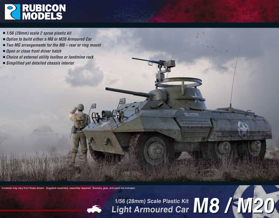 Rubicon Models 28mm M8/M20 Light Armoured Car # 280028